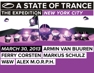 Armin Van Buuren's A State of Trance 600 New York City Show Announced!