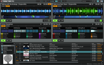 Native Instruments Traktor DJ software.