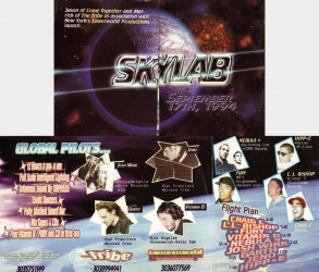 Front and back of original fold-out flyer for Skylab from 1994.