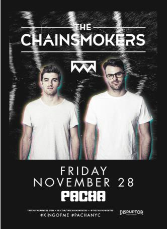 the chainsmokers pacha nyc flyer