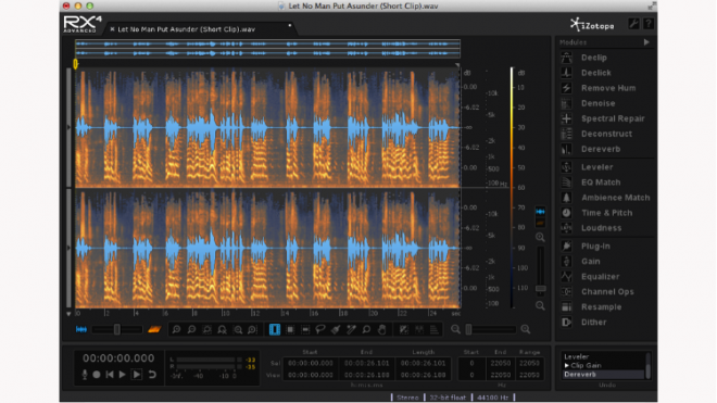 Software Review: iZotope RX4 Advanced